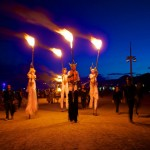 The Lighting Ceremony at Burning Man 2013.